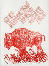 Load image into Gallery viewer, Tea Towel - Bison - Kimball Prints