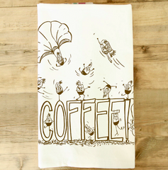 Tea Towel - Coffee - Fisk and Fern