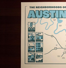 Load image into Gallery viewer, Austin Neighborhoods Print
