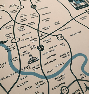 Austin Neighborhoods Print