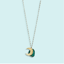 Load image into Gallery viewer, Agate Moon Necklace