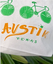 Load image into Gallery viewer, Austin Bicycle Tote Bag