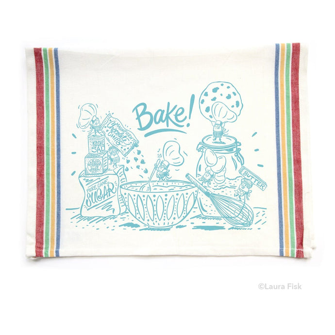 Tea Towel - Bakers Baking - Fisk and Fern