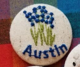 Austin Embroidered Magnets