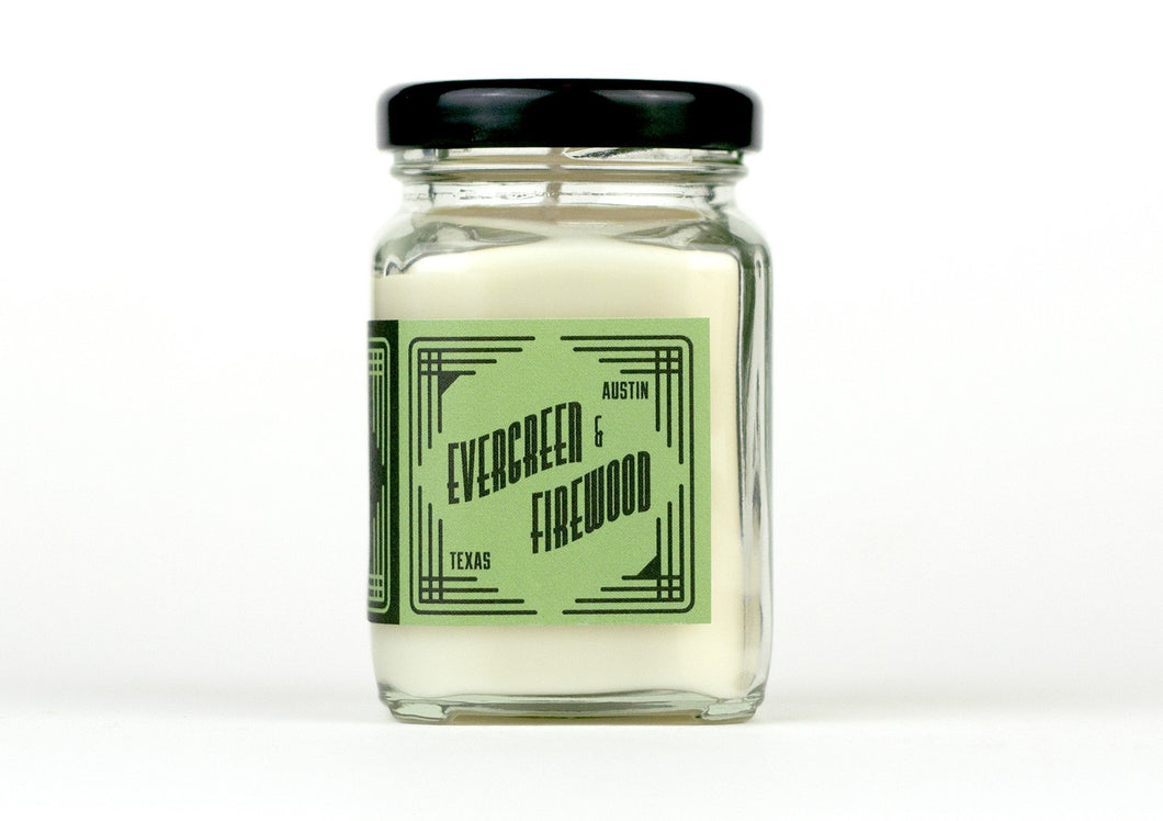 Evergreen & Firewood Mini Soy Candle