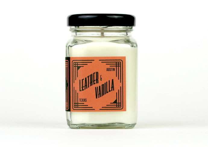 Leather & Vanilla Mini Soy Candle