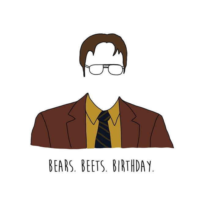 Dwight (The Office) Happy Birthday  - Greeting Card