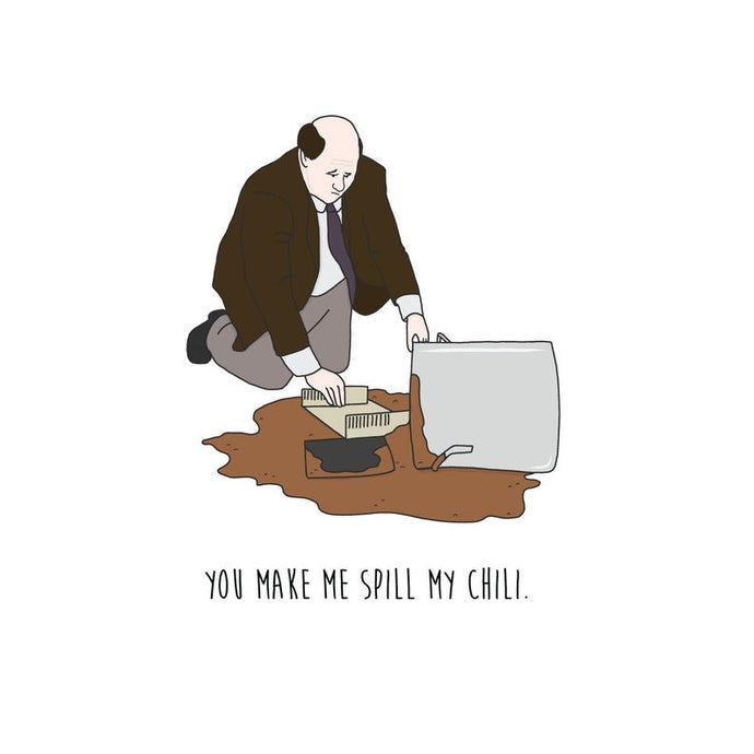 Spilled Chili (The Office) - Greeting Card