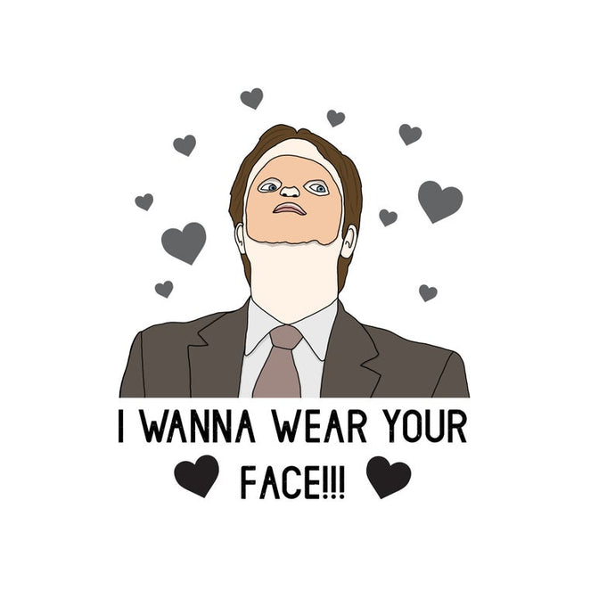 Wear Your Face - Greeting Card