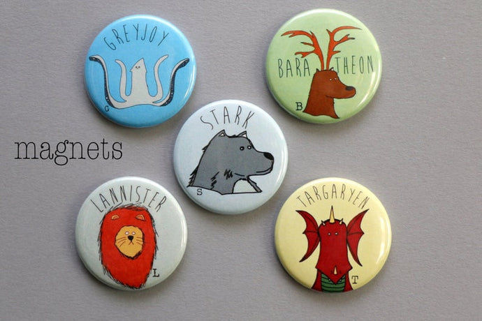 Game of Thrones Mascots - Magnet Set