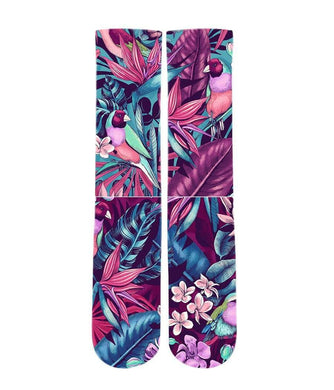 Jungle Floral pattern printed graphic socks