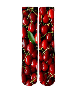 Red Cherry graphic socks - DopeSoxOfficial