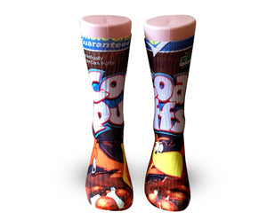 Coco Puffs cereal Elite crew socks - Dope Sox Official-Elite custom socks