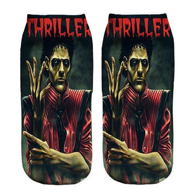 Micheal Jackson Thriller ankle socks
