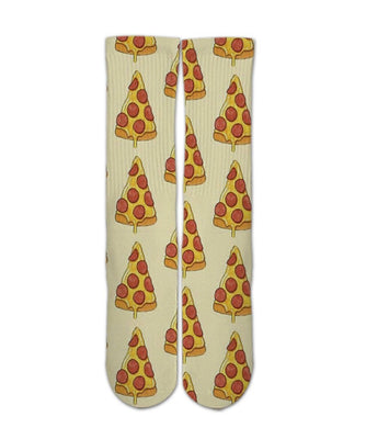 Food Printed Socks-Pizza pattern socks - Dope Sox Official-Elite custom socks