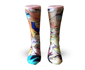 Dragon Ball Z comic book strip -Custom Elite Crew socks - Dope Sox Official-Elite custom socks
