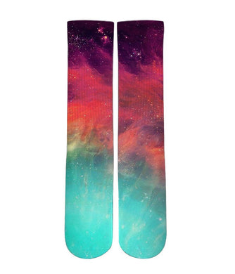 Skyline galaxy socks - Elite sublimated crew socks - DopeSoxOfficial