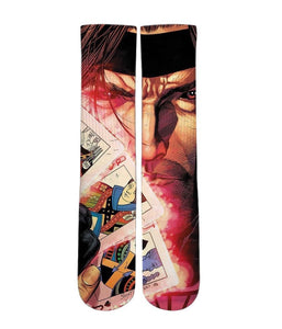 Gambit design all over printed crew socks - DopeSoxOfficial