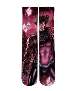 Gambit custom design all over printed crew socks - DopeSoxOfficial