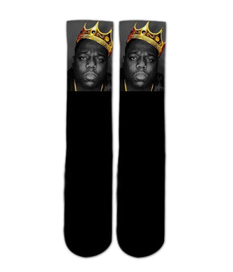 Notorious B.I.G printed crew socks - DopeSoxOfficial