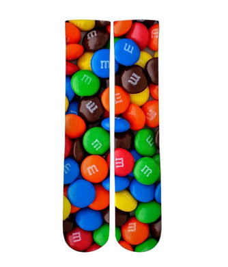 M&M candy elite graphic socks - Dope Sox Official-Elite custom socks