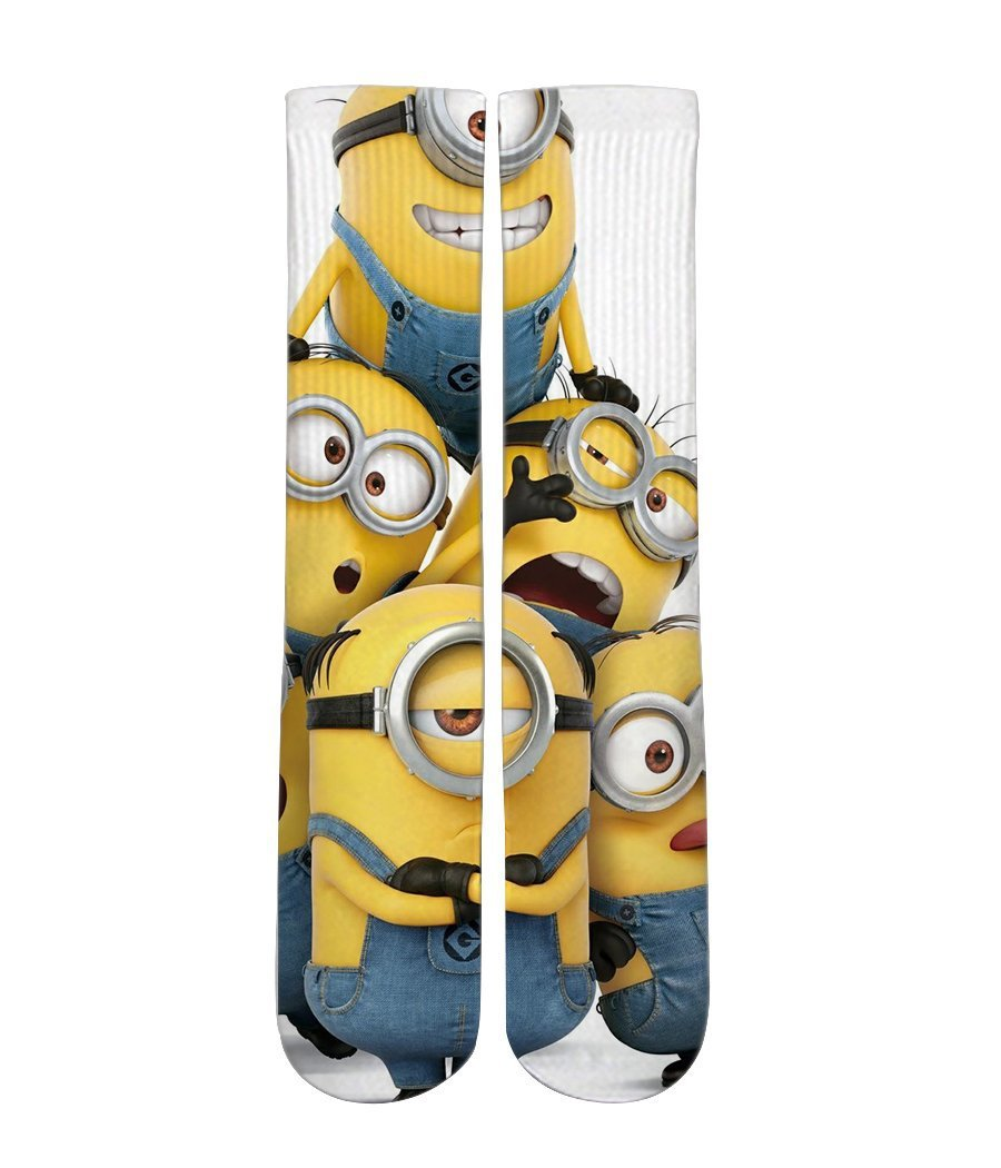 Minions customized elite socks - Dope Sox Official-Elite custom socks