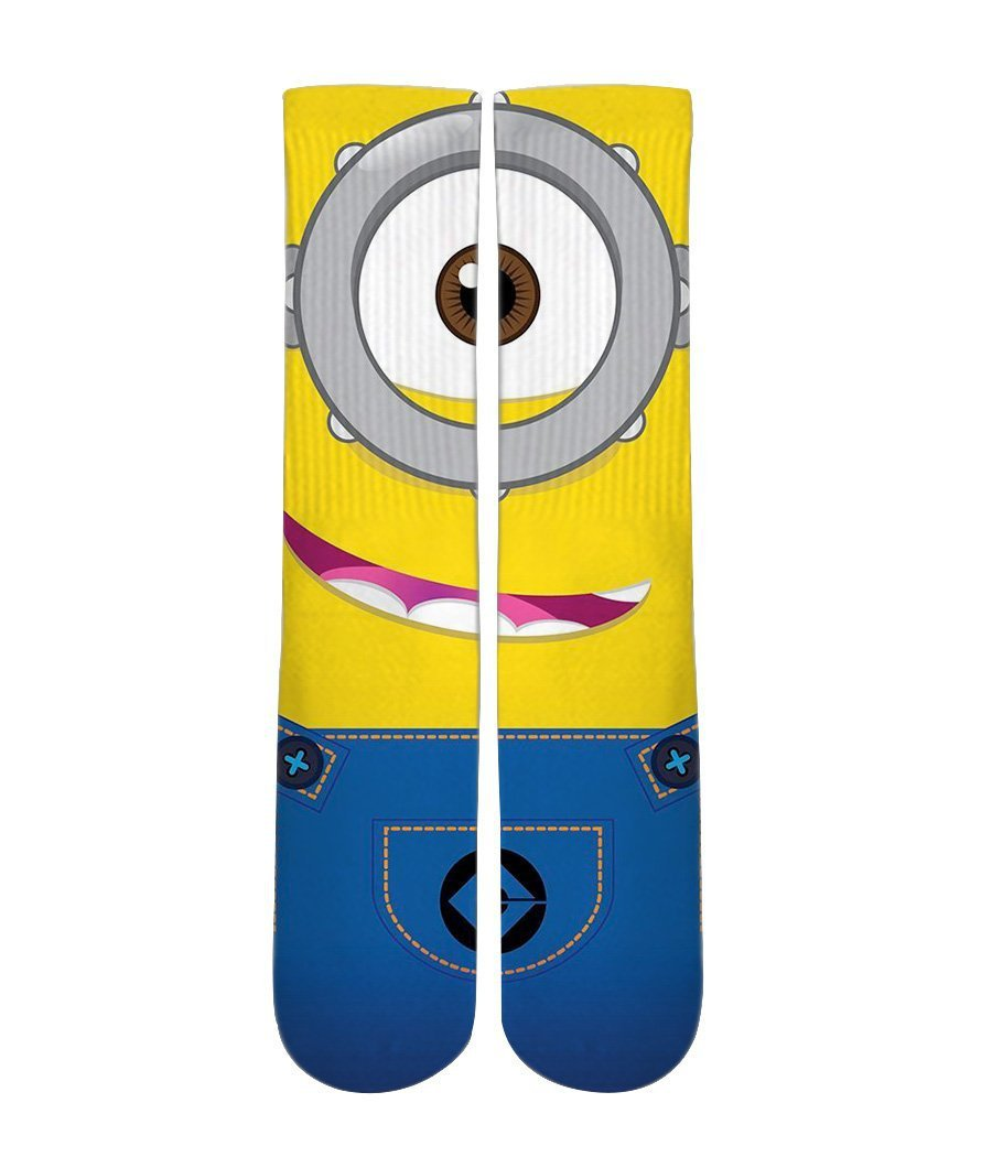 Minion Socks-Custom Elite Crew socks - Dope Sox Official-Elite custom socks