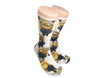 Minions All over print elite socks - Dope Sox Official-Elite custom socks