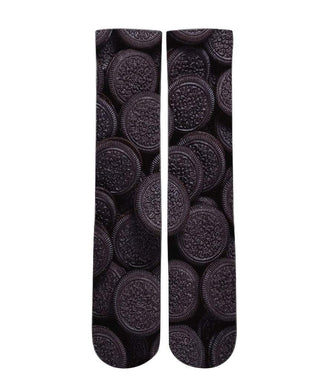 Oreo Cookie pattern all over printed socks - Dope Sox Official-Elite custom socks