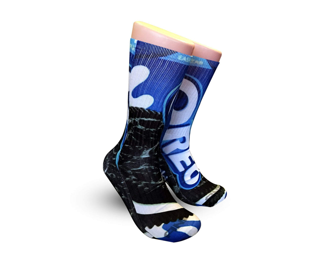 Oreo Cookies Elite printed crew socks - DopeSoxOfficial