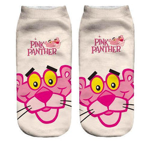 Pink Panther ankle socks