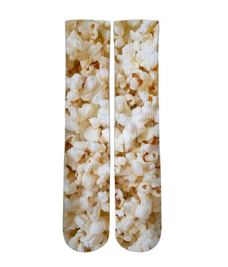 Pop Corn All over printed socks - Dope Sox Official-Elite custom socks
