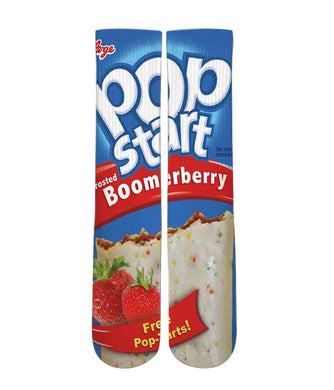 Strawberry pop tarts printed crew socks - DopeSoxOfficial