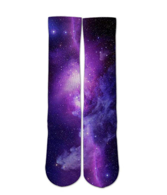 Cool Design Socks-Purple Galaxy sock design - DopeSoxOfficial