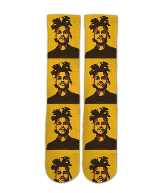The weekend music artist elite printed crew socks - DopeSoxOfficial