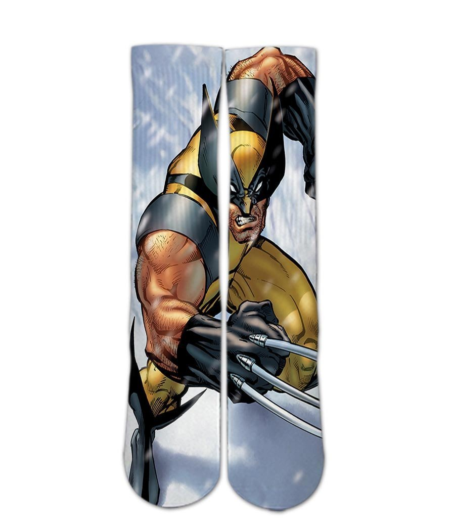 Wolverine printed crew socks - Dope Sox Official-Elite custom socks