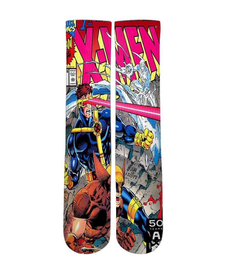 Xmen Comic Book -Custom Elite Crew socks - Dope Sox Official-Elite custom socks