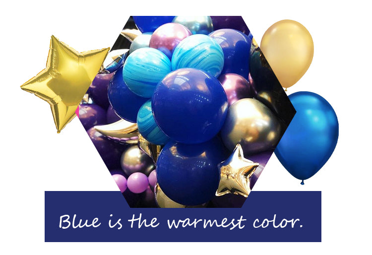 Blue and gold balloon garland - Badass Balloon Co