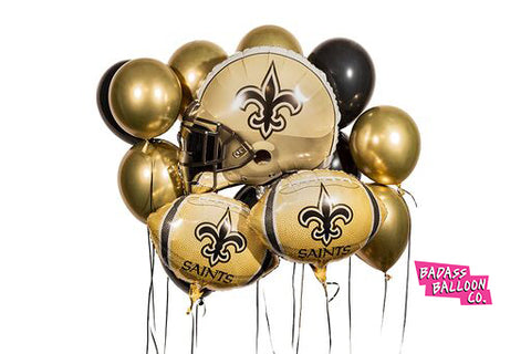 New Orleans Saints Balloons Badass Balloon Co