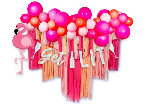 pink party decoration