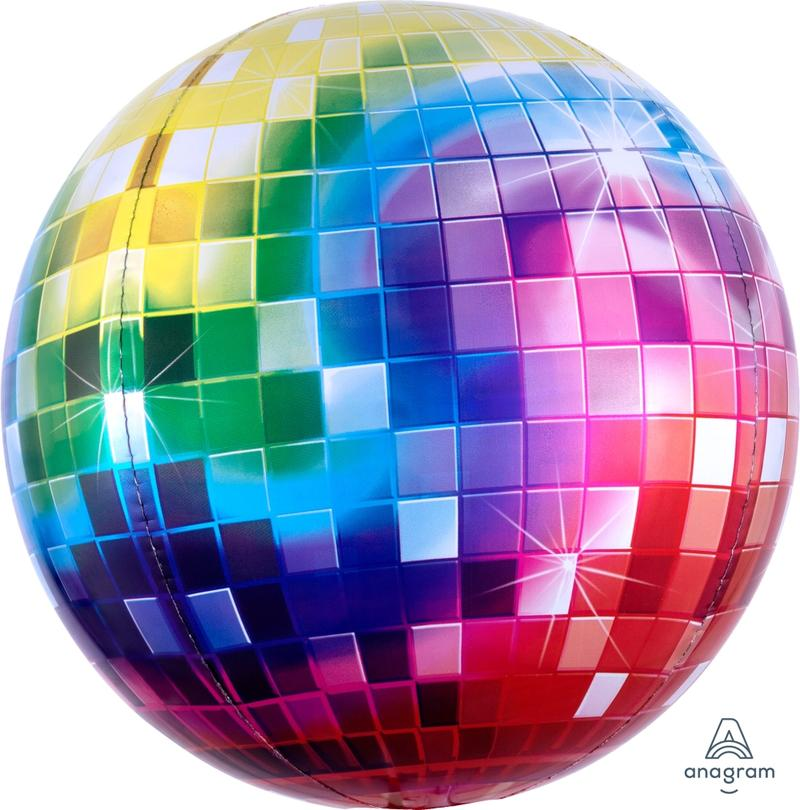 Rainbow Roller Disco Balloon Sphere