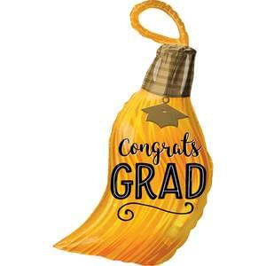 """Congrats Grad"" Tassel supershape balloon"
