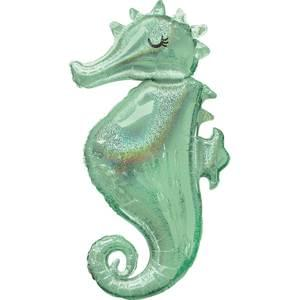 Mermaid Wishes Seahorse Holographic Balloon