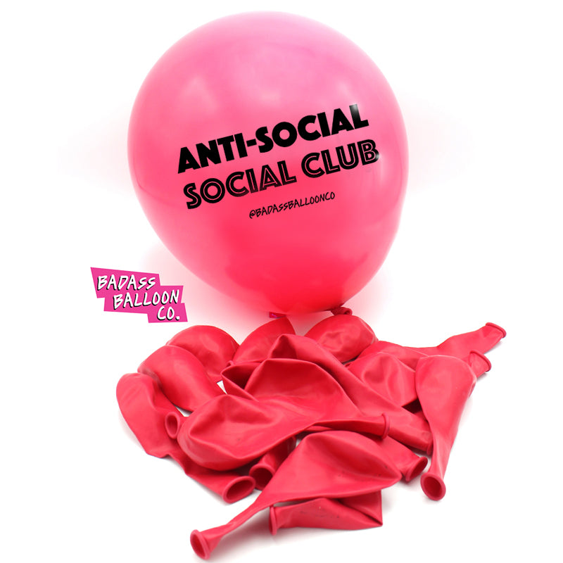Anti-Social Social Club Badass Balloons | Biodegradable Badass Balloons & Party Supplies