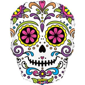 Colorful Sugar Skull Day of the Dead Super Shape Balloon