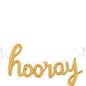 """Hooray"" Script Balloon"