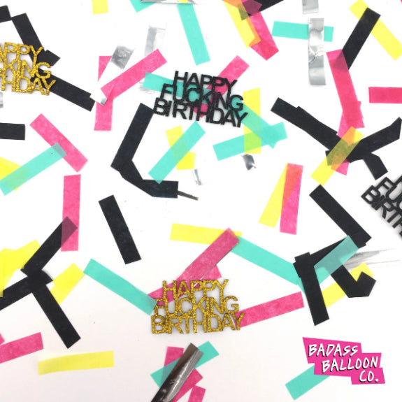 Adult Party Confetti: Happy Fucking Birthday