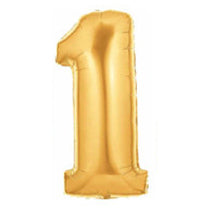 Giant Number Balloons in Gold
