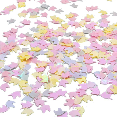 Yellow + Pink Iridescent Unicorn Confetti in Indirect Light