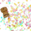 Yellow + Pink Iridescent Unicorn Confetti in Direct Light